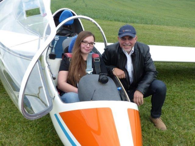 150709 Jenny Und Hg Segelflugzeug