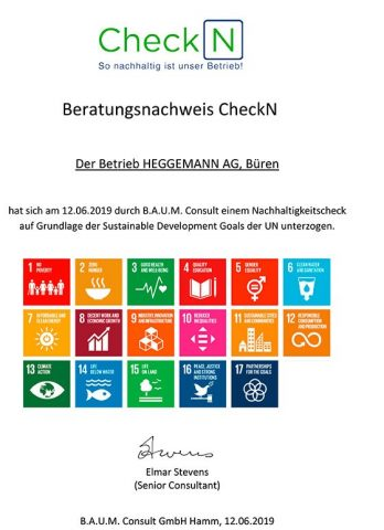 CheckN Beratungszertifikat Heggemann